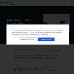 Innovation in a crisis: Your launchpad past COVID-19