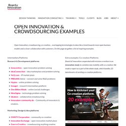 Open Innovation & Crowdsourcing Examples