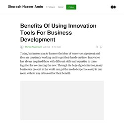 Benefits Of Using Innovation Tools For Business Development