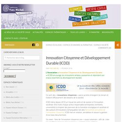 Innovation Citoyenne et Développement Durable (ICDD) - Editions Yves Michel