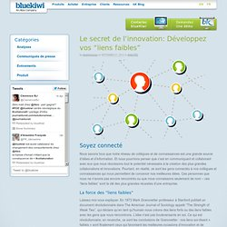 "Le secret de l'innovation: Développez vos ""liens faibles""blueKiwi Enterprise Social Software"