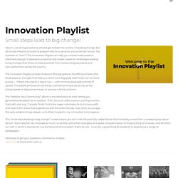 Innovation Playlist - Ted Dintersmith