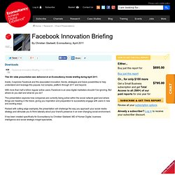 Facebook Innovation Briefing