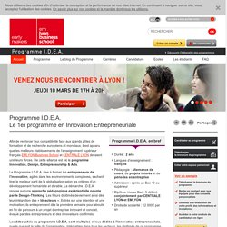 Programme I.D.E.A., Programme en innovation entrepreneuriale