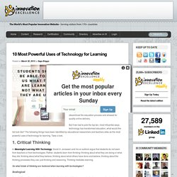10 Most Powerful Uses of Technology for Learning