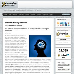 Blogging Innovation » Different Thinking is Needed