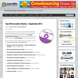 Top 20 Innovation Articles – September 2013