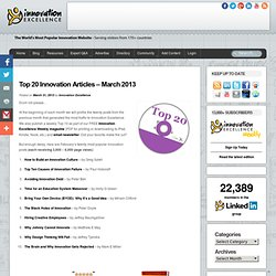 Top 20 Innovation Articles – March 2013