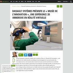 Dassault Systèmes présente le « Musée de l'innovation », une expérience 3D immersive en réalité virtuelle