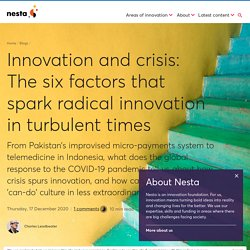DH-Innovation and crisis: The six factors that spark radical innovation in turbulent times