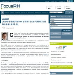 Quand l'innovation s'invite en formation. Par Philippe Gil - Focus RH