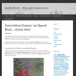 Innovation Games: un Speed Boat... sinon rien!