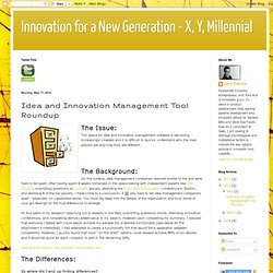 Idea and Innovation Management Tool Roundup