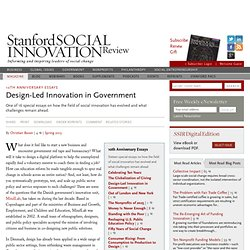 Design-Led Innovation in Government