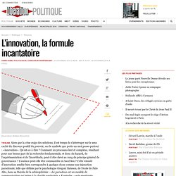 L'innovation, la formule incantatoire