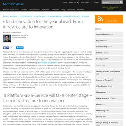 Cloud innovation for the year ahead: From infrastructure to innovation