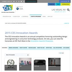 CES Innovation Awards - 2015 International CES, January 6-9