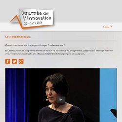Journée de l'innovation 2014 - Co-intervention et réflexion collective
