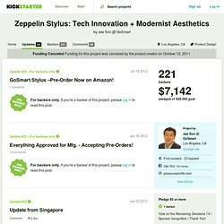 Zeppelin Stylus: Tech Innovation + Modernist Aesthetics by Jae Son @ GoSmart » Updates