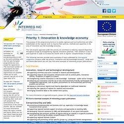 Innovation & Knowledge Economy - INTERREG IVC