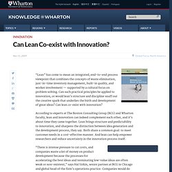 Can Lean Co-exist with Innovation?