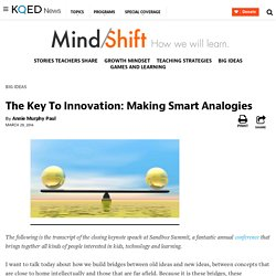 The Key To Innovation: Making Smart Analogies