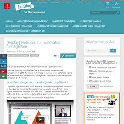 [VIDEO] L'innovation managériale : des webinars en replay