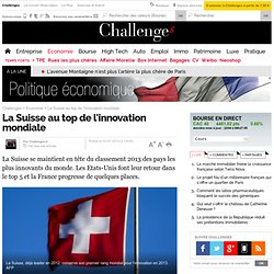 La Suisse au top de l'innovation mondiale