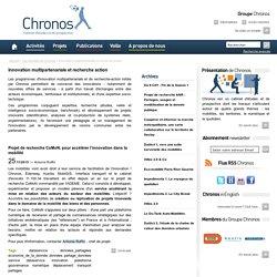 Innovation multipartenariale et recherche action - Les activités de Chronos
