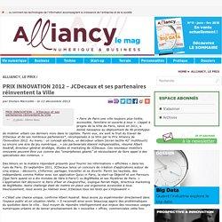 Alliancy PRIX INNOVATION - JCDecaux et ses partenaires