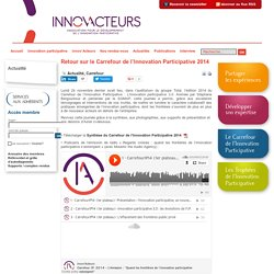 Retour sur le Carrefour de l'Innovation Participative 2014