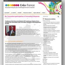 De l'innovation participative à l'innovation citoyenne