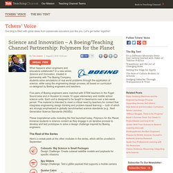 Science And Innovation In The Classroom: A Boeing/Teaching Channel Partnership