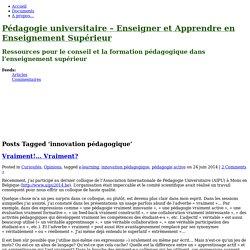 """Perle 8 """"Innovation pédagogique"""" (blog)"""