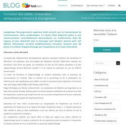 Formation des cadres : L'innovation pédagogique influence le management – Blog Toolearn