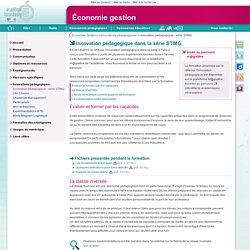 Innovation pédagogique dans la série STMG - Économie gestion