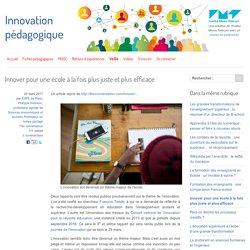 Innover pour une école à la fois plus juste et plus efficace - Innovation Pédagogique