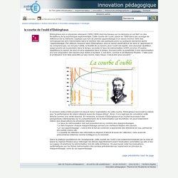 innovation pédagogique - la courbe de l'oubli d'Ebbinghaus