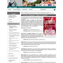2014 - L'innovation pédagogique : gageüre ou nécessité ?