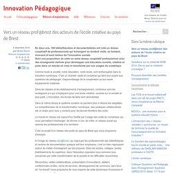 Vers un réseau prof@brest des acteurs de l'école créative au pays de Brest