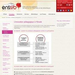 L'innovation pédagogique à l'Enssib