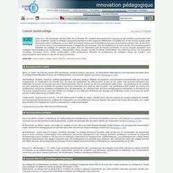 innovation pédagogique - Liaison école/collège