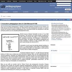 L'innovation pédagogique dans le Café Mensuel N°180