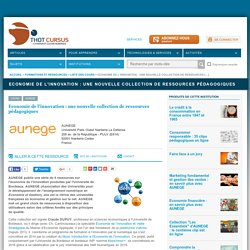 Economie de l'innovation : une nouvelle collection de ressources pédagogiques