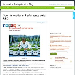 Open Innovation et Performance de la R&D