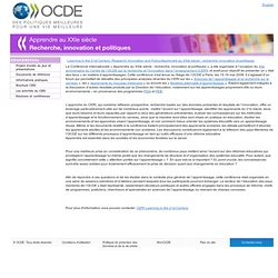 Learning in the 21st Century: Research, Innovation and Policy/Apprendre au XXIe siècle : recherche, innovation et politiques