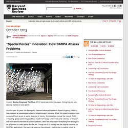 """Special Forces"" Innovation: How DARPA Attacks Problems"