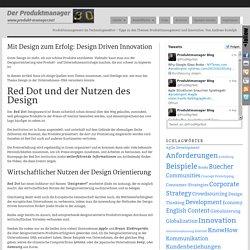 Mit Design zum Erfolg: Design Driven Innovation