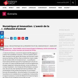 Numérique et innovation : L'avenir de la profession d'avocat - Tendance Droit