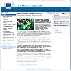 L'Union de l'innovation: relancer l'emploi et la croissance durables